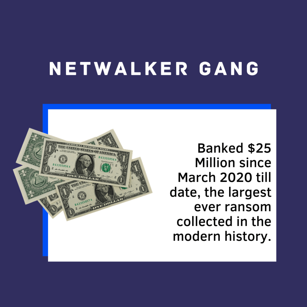 Netwalker Gang earns $25 million