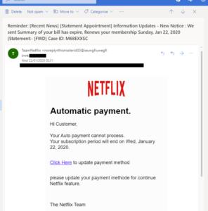 Fake Netflix Phishing Scam